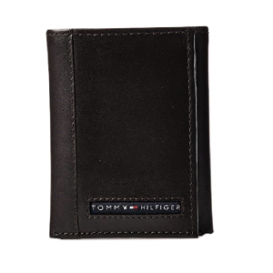 Carteira Tommy Hilfiger Cambrige trifold Marron escuro